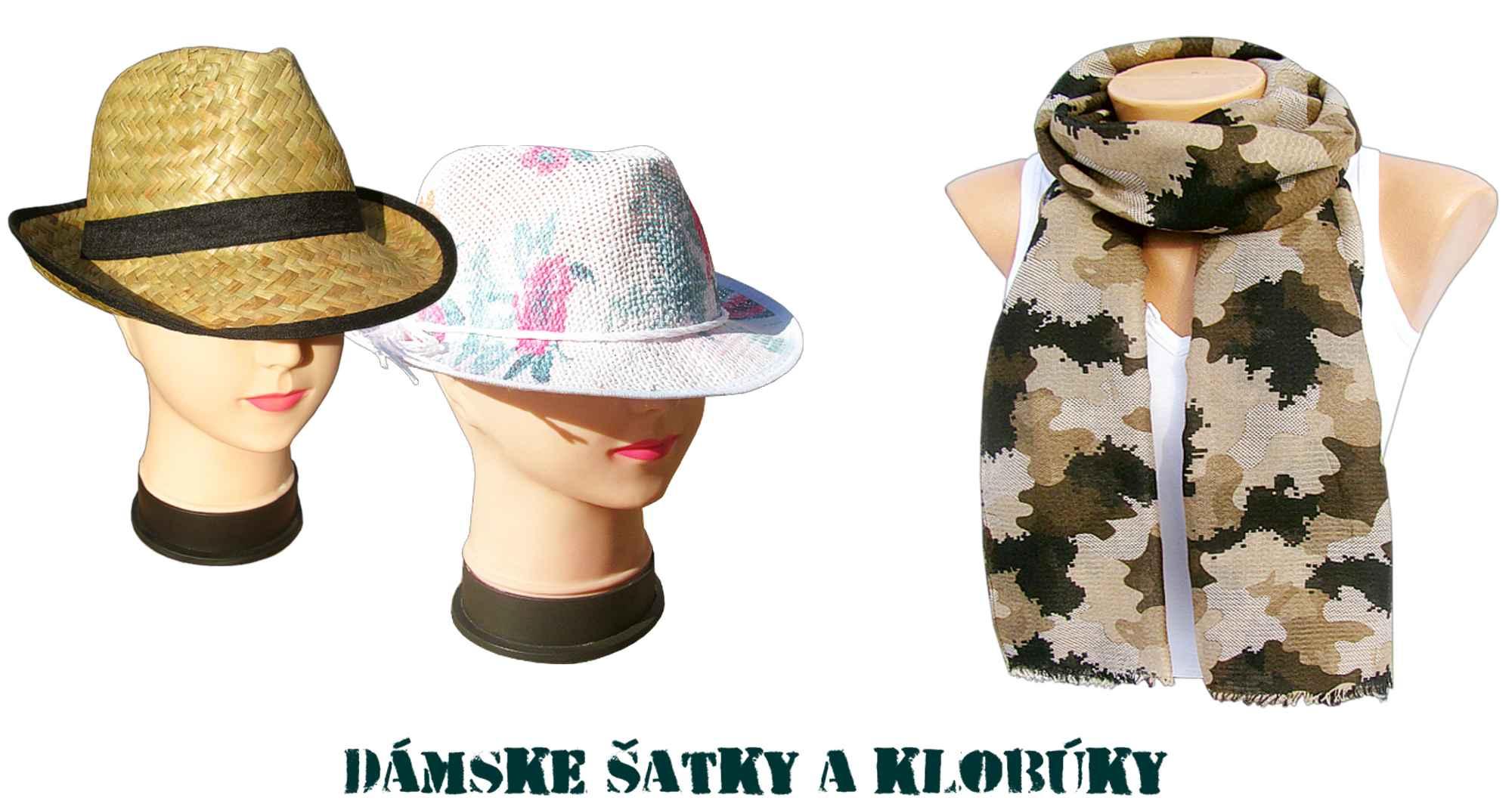 b2f1aca87 Dámske klobúky, šatky, šály - odevné doplnky TifanTEX