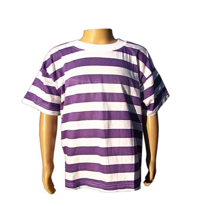 5bde44f2b78c Tričko detské TEAM fialovobiele - akcia