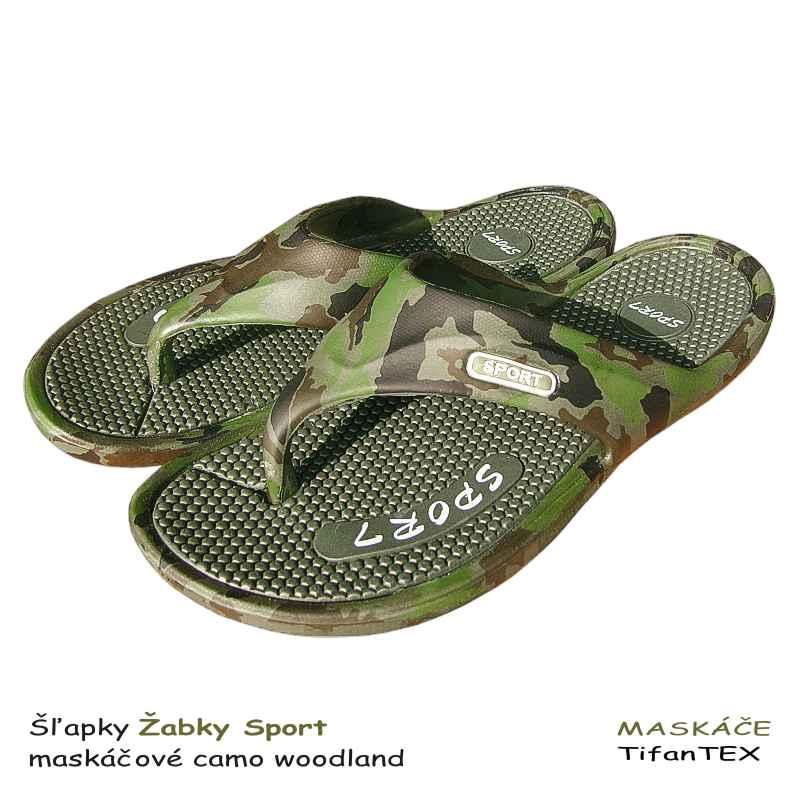 Šľapky Žabky Sport maskáčové woodland aacaf18428