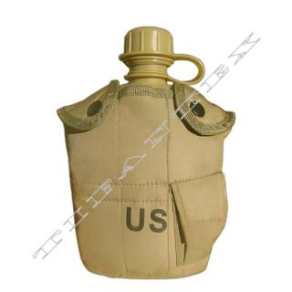 61cdbbb775 Poľná fľaša US s ALU miskou beige empty